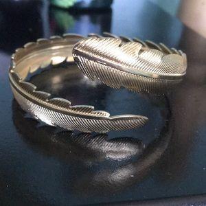 Gold plated bangle/ mid-arm bracelet